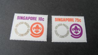 Singapore 1974 Sg 233 - 234 9th Asian - Pacfic Scout - - Post - - - - photo