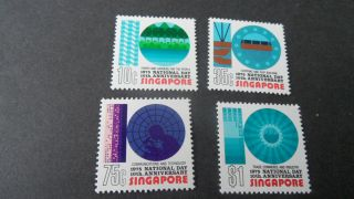Singapore 1973 Sg 256 - 259 10th National Day - - Post - - - - photo