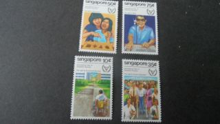 Singapore 1981 Sg 407 - 410 Year For Disabled - - - Post - - - photo