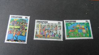 Singapore 1977 Sg 311 - 313 Childrens Act - - - Post - - - - - - photo