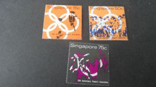 Singapore 1970 Sg 133 - 135 10th Anniv - - Post - - - photo
