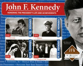 Grenada 2013 John F Kennedy 50th Memorial 4v M/s Jfk Us President Life photo