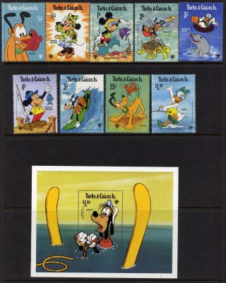 Turks & Caicos 399 - 408 Disney,  Iyc,  Goofy,  Mickey photo