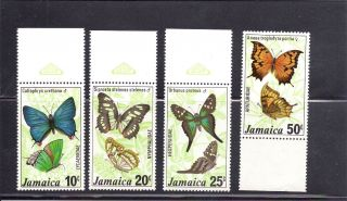 Jamaica 1978 Scott 435 - 38 Butterflies photo