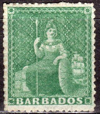 Barbados 15 1861 1/2p Green Mh photo