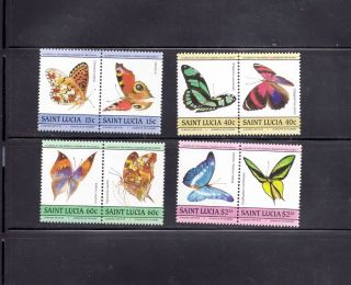 Saint Lucia 1985 Scott 731 - 34 Butterflies photo