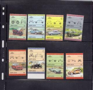 Saint Lucia 1984 Scott 686 - 93 Vintage Automobiles photo