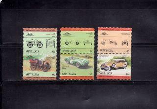 Saint Lucia 1984 Scott 686//693 Vintage Automobiles photo