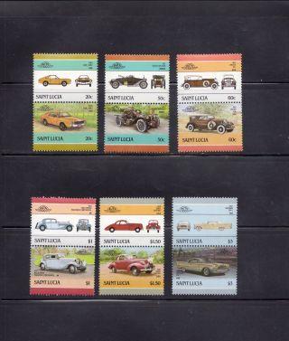 Saint Lucia 1986 Scott 850 - 55 Vintage Automobiles photo