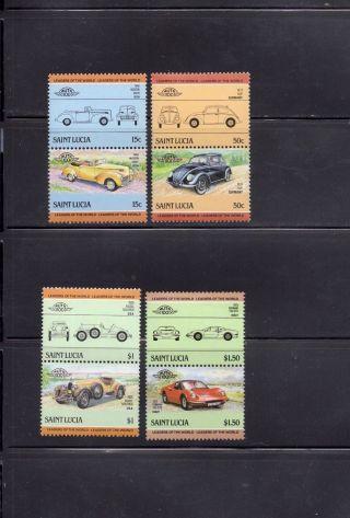 Saint Lucia 1985 Scott 739 - 42 Vintage Automobiles photo