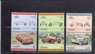 Saint Lucia 1984 Scott 654 - 56 Vintage Automobiles photo