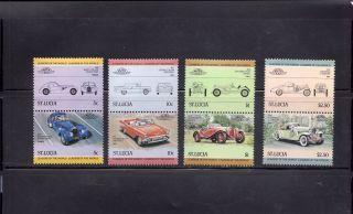 Saint Lucia 1984 Scott 653 - 56 Vintage Automobiles photo