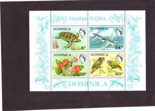 Dominica Scott 300a,  S/s Fauna Flora,  Nh,  Og,  Extra Fine,  Cv $10+ photo