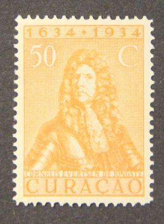 Curacao 1934 300 Anniversary 50c Orange Mlh Hv Sc 151 photo