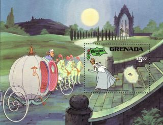 Grenada 1981 Disney Christmas Mini Sheet Sgms1153 Unmounted R:y755 photo