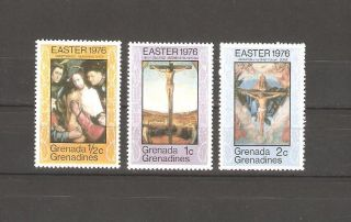 Grenada Grenadines 1976,  Easter Paintings,  Sc 167 - 169, photo