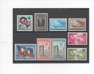Haiti - 9 Assorted - B9 - C209 - - 1946 - 63 photo