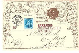 Barbados 1979 Sir Rowland Hill & First Stamp S/s (sc 494) photo