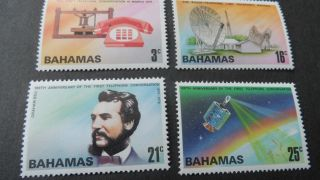 Bahamas 1976 Sg 456 - 459 Cent Of Telephone. photo
