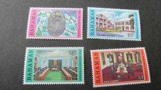 Bahamas 1979 Sg 545 - 548 250th Anniv Of Parliament. photo