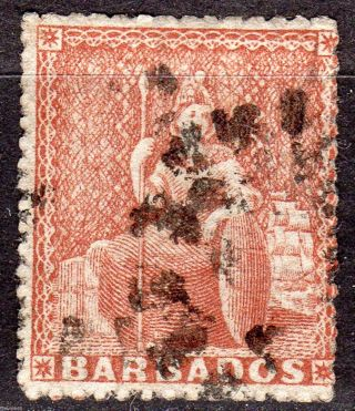 Barbados 17a 1861 4p Brown Red photo