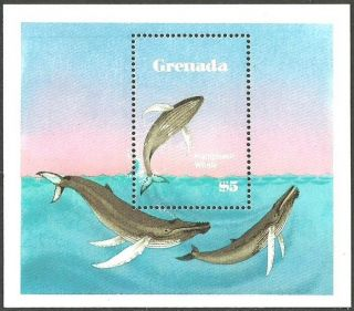 Grenada 1983 Marine Life Whales M/sheet photo