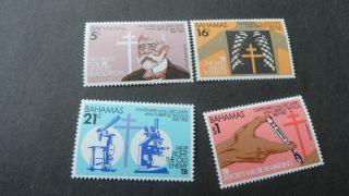 Bahamas 1982 Sg 612 - 615 Cent Of Discovery Of Tubercle Bacillus photo