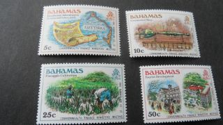 Bahamas 1980 Sg 559 - 560 - 566 - 568 Defintives. photo