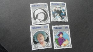 Bahamas 1985 Sg 712 - 715 Life And Times Of Queen Mother. photo
