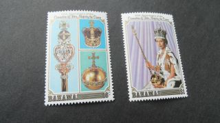 Bahamas 1978 Sg 515 - 516 25th Anniv Of Coronation. photo