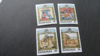 Bahamas 1988 Sg 819 - 822 500th Anniv Discovery Of America By Columbus. photo
