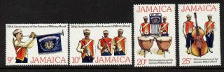Jamaica 431 - 4 - Military Band,  Music,  Flag,  Crest,  Uniforms photo