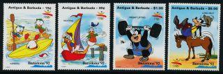 Antigua 1530 - 1,  3,  6 Disney,  Horse,  Sports,  Yacht photo