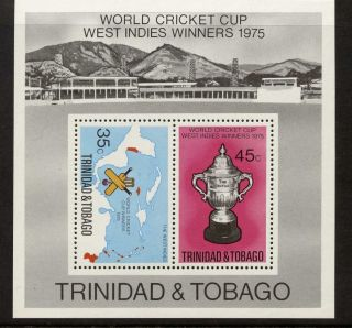 Trinidad & Tobago 261a Sports,  Cricket,  Map photo