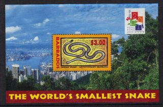 Barbados 2001 Hong Kong Stamp Exhibition Mini Sheet Fine Sgms1179 Ref Cpj96 photo
