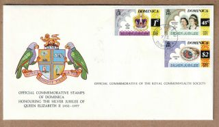 Fdc 1977 Dominica - Silver Jubilee Of Queen Elizabeth Ii - Official Cover photo