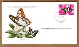 Fdc 1979 Nevis - Malachite Butterfly photo