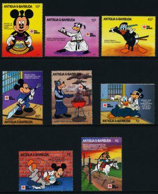 Antigua 1436 - 43 Disney,  Phila Nippon,  Horse,  Mickey photo