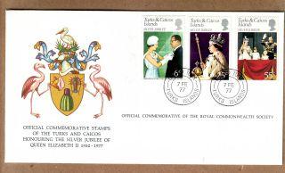 Fdc 1977 Turks & Caicos Islands - Silver Jubilee Of Queen Elizabeth Ii photo