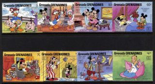 Grenada Grenadines 919 - 26 Disney,  Andersen ' S Fairytales,  Mickey Mouse photo