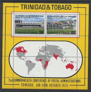 Trinidad & Tobago 1973 Ms447 Conference Postal Admin Mini Sheet A 022 photo