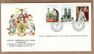 Fdc 1977 Barbados - Silver Jubilee Of Queen Elizabeth Ii - Official Cover photo