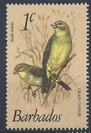 Barbados 1979 Sg622 1c Grassland Yellow Finch Birds A 001 photo