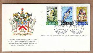 Fdc 1977 St Christoper,  Nevis & Anguilla - Silver Jubilee Of Queen Elizabeth Ii photo