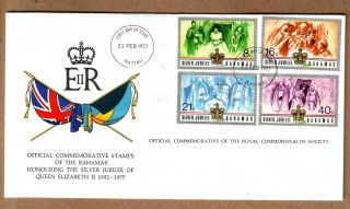 Fdc 1977 Bahamas - Silver Jubilee Of Queen Elizabeth Ii photo