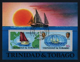 Trinidad & Tobago 246a - Yacht,  Map,  Circumnavigation photo