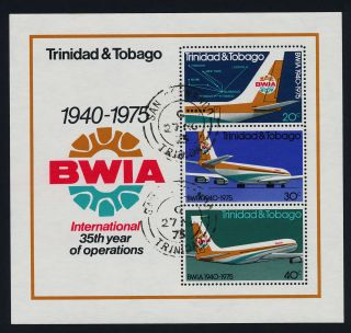 Trinidad & Tobago 253a - Aircraft,  Bwia photo