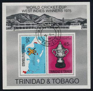 Trinidad & Tobago 261a - Sports,  Cricket,  Map photo