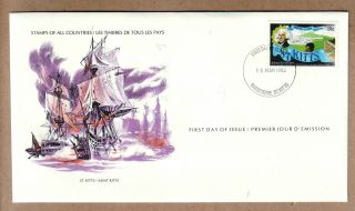 Fdc 1979 St Kitts - Siege Of Brimstone Hill Fortress photo