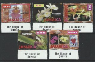Jamaica 1997 Sc 873 - 877 Flowers photo